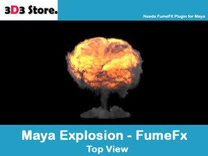 3d explosion fumefx