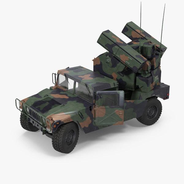 3d hmmwv m998 equipped avenger model