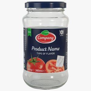 3d model packaging jar