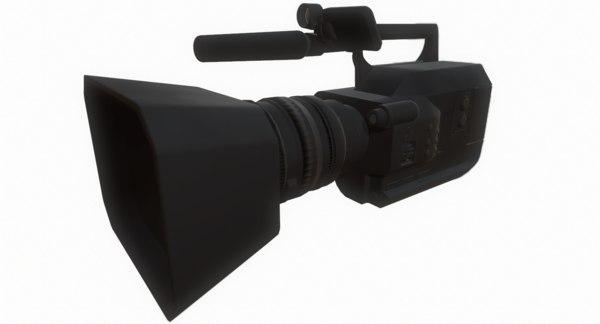 3d video camera model