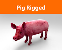 pig rigged 3d max