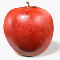 3d model red apple