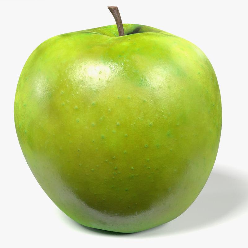 green apple 3d model