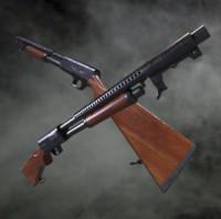 stevens 520 shotgun 3d obj
