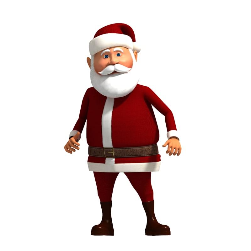 cartoon santa claus 3d max