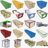 3d containers iso shipping