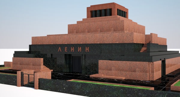 3d lenins mausoleum model