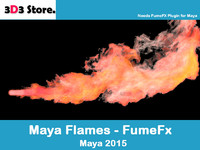 Maya FumeFx Flame Thrower