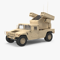 3d hmmwv m998 equipped avenger