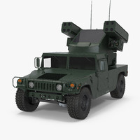 hmmwv m998 equipped avenger 3d model
