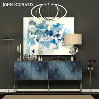 3d model of decorative set john-richard
