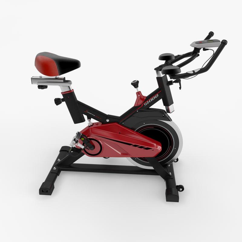 exercise fitness bike 3d 3ds