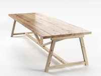 wooden dining table 3d max