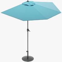 3d latr1366 market umbrella latitude model