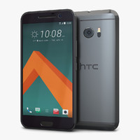 htc 10 carbon gray 3d max