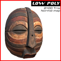 3d max african mask