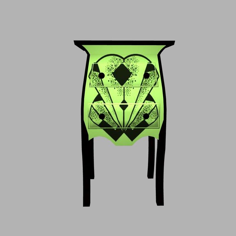 3d deco chest model