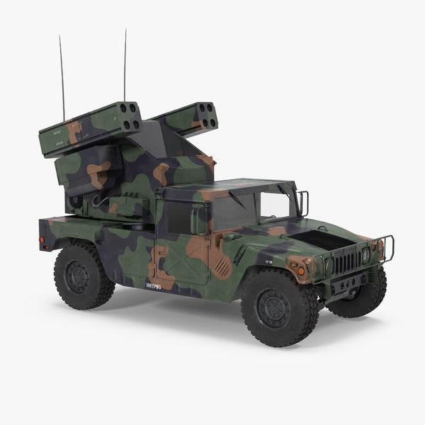 3d model hmmwv m998 equipped avenger