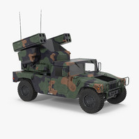 3d model hmmwv m998 equipped avenger