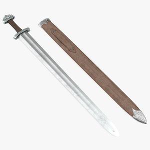 medieval viking sword set 3d max