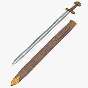 3d model viking sword set