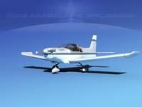 3d propeller zlin 242 model