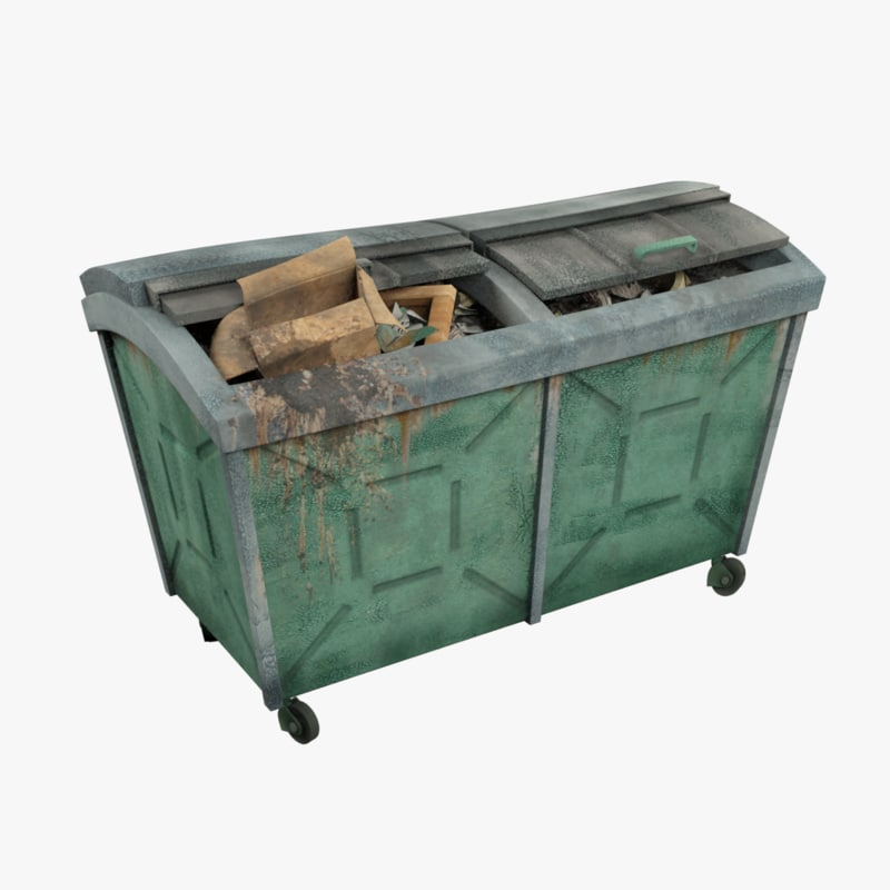 3d trash box model