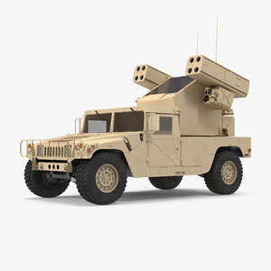 hmmwv m998 equipped avenger 3d 3ds