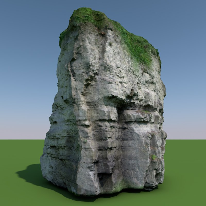 3d model of rock 02 scan