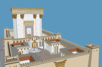 3d archaeological herods temple model