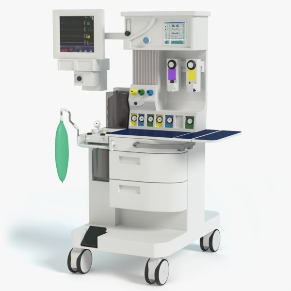 anesthesia machine 3d model