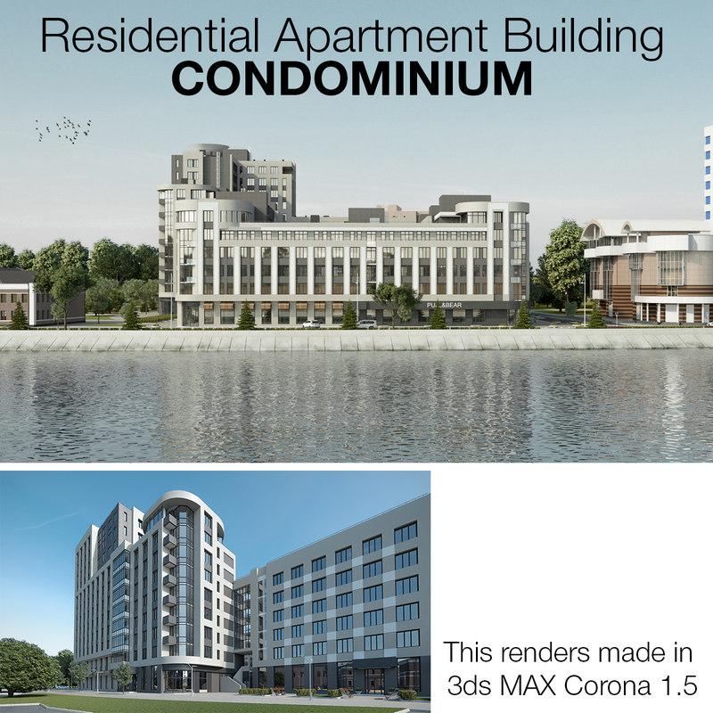 residential apartment condominium 3d model
