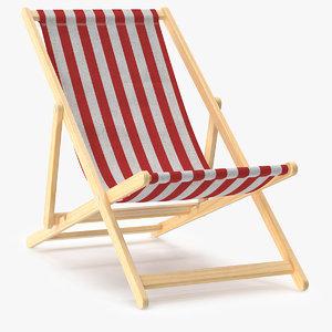 beach chair obj