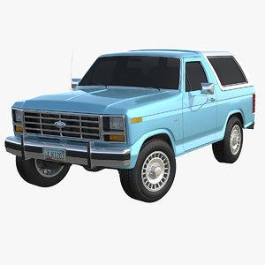 bronco 1980 -1986 3d max