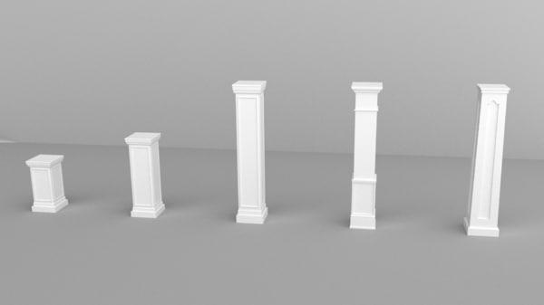 square columns 3d blend