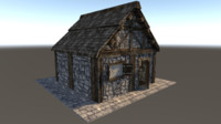 3ds medieval city house
