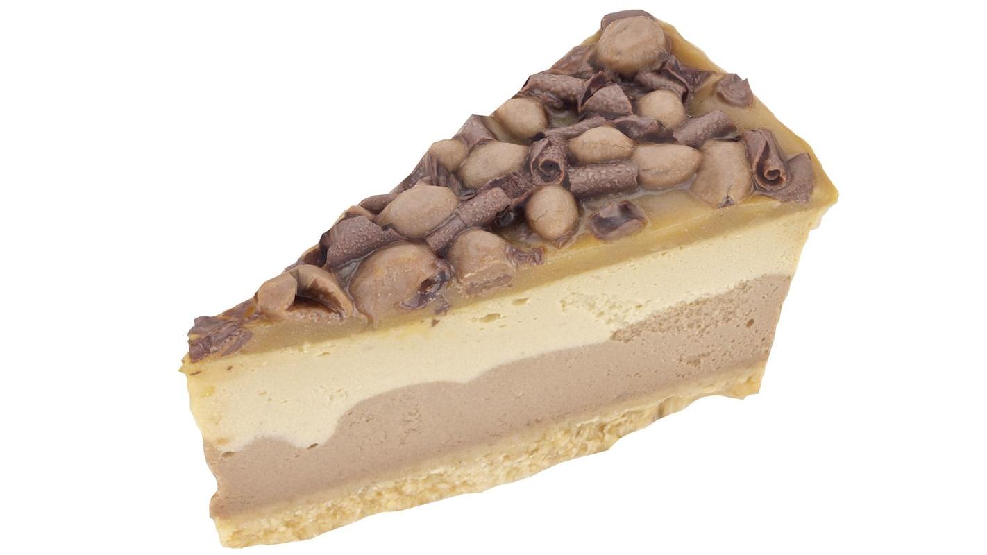 chocolate cheese cake slice 3d max