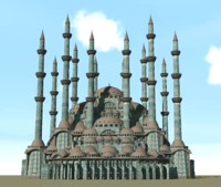 original mosque ottoman 3d model
