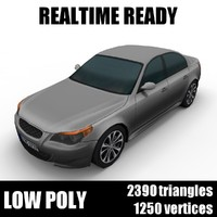 Generic low poly sedan car 002