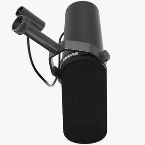 radio microphone shure sm 3d model