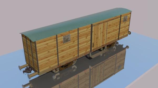 3d model train wagon