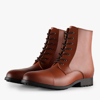 3d color leather work boots model