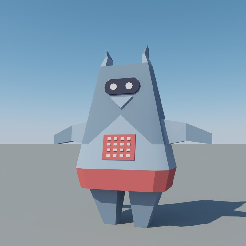 3d model of cartoon space robot