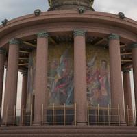 3d max victory column siegessaeule berlin