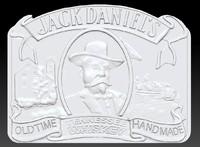 3d model belt buckle jack daniels