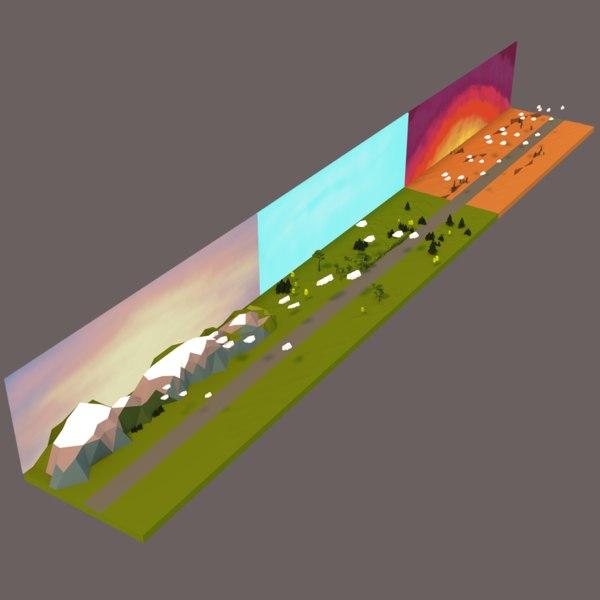 3d landscape scenes model