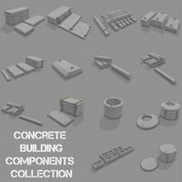 3d concrete building components model