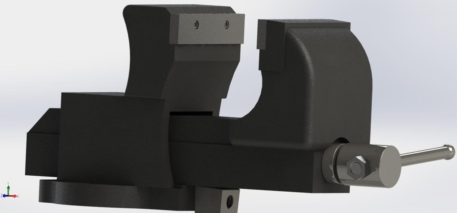 bench vice 3d model