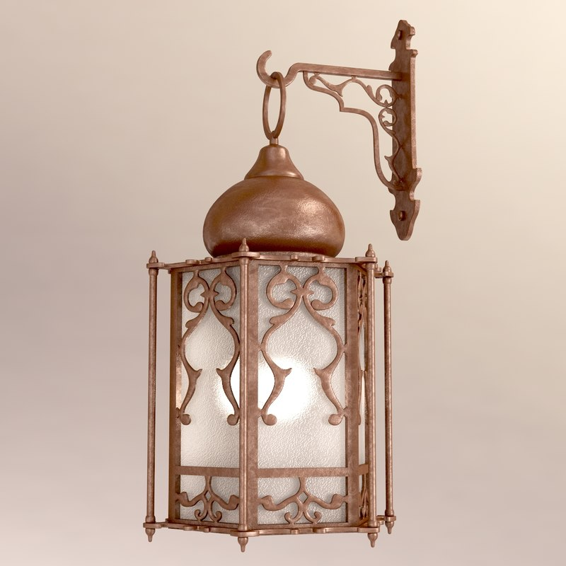 Wall Lamps 3d Model Free : arabic wall lamp 3d model