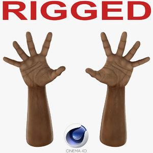 african man hands 3 3d c4d